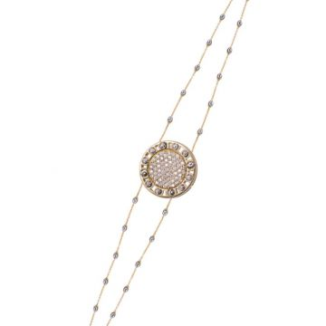 Officina Bernardi 18k Yellow Gold Senza Tempo Diamond Bracelet