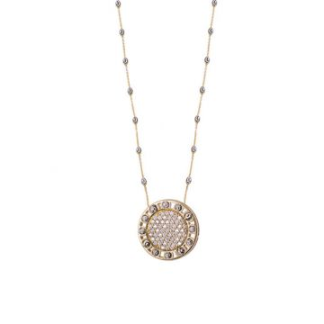 Officina Bernardi 18k Yellow Gold  Senza Tempo Diamond Necklace