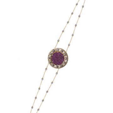 Officina Bernardi 18k Yellow Gold Senza Tempo Gemstone Bracelet