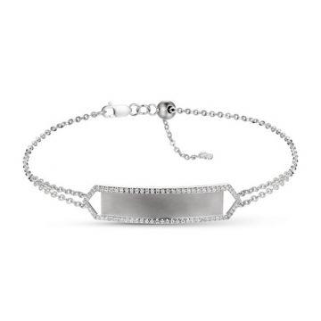 Luvente 14k White Gold Diamond Bracelet
