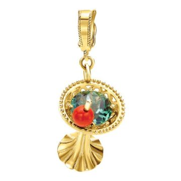 Gabriel 14K Yellow Gold Treasure Chests Multi Color Pendant PT907Y44MC