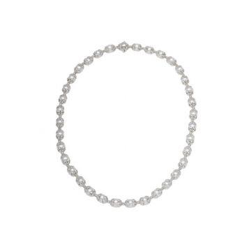 Officina Bernardi Sterling Silver Horizon Pearl Necklace
