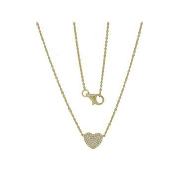 Luvente 14k Yellow Gold Diamond Necklace