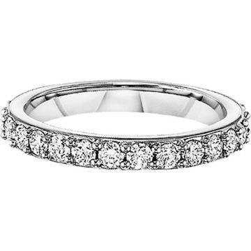 SB&T Imports 14k White Gold  Eternity Wedding Band