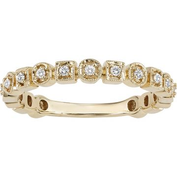SB&T Imports 14k Yellow Gold Stackable Diamond Ring