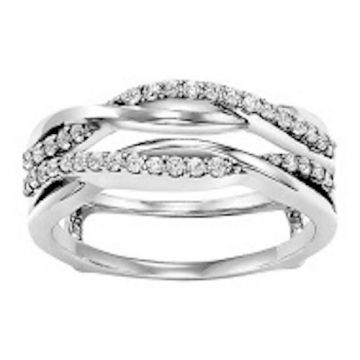 SB&T Imports 14k White Gold Diamond Enhancer Wedding Band
