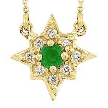 SB&T Imports 14k Yellow Gold Diamond & Gemstone Necklace