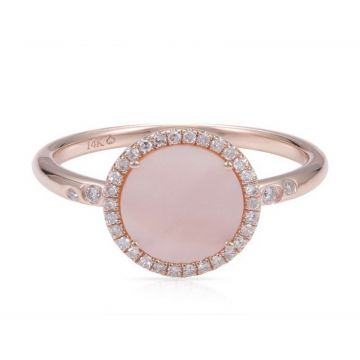 Luvente 14k Rose Gold Diamond and Gemstone Ring