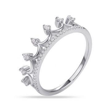Luvente 14k White Gold Diamond Ring