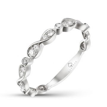 Luvente 14k White Gold Diamond Ring