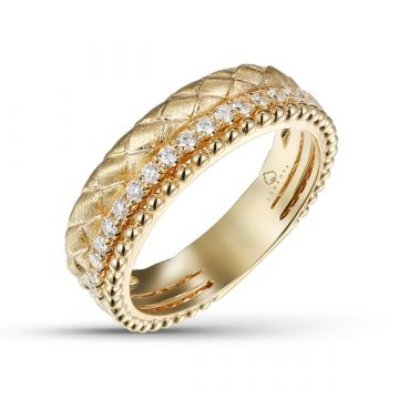 Luvente 14k Yellow Gold Diamond Ring