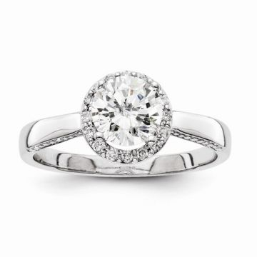 Quality Gold 14k White Gold Diamond Semi-Mount Engagement Ring