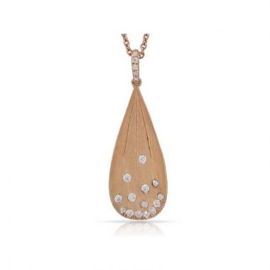 Luvente 14k Rose Gold Diamond Necklace
