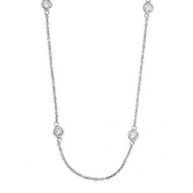 SB&T Imports 14k White Gold Diamond Necklace