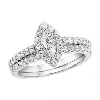 SB&T Imports 14k White Gold  Wedding Set
